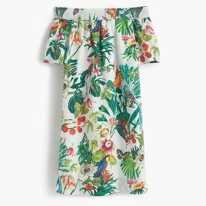J. Crew Tropical Off-the-Shoulder Dress